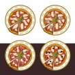 Set of pizza — Stock Vector