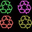 Neon Recycle Sign — Stock Photo