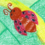Kid crayon art — Stock Photo