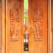 Thai style wood carving — Foto Stock
