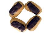 кондитерские изделия - круг из эклеры — Стоковое фото