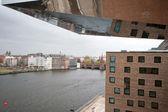 берлин восточного порта - spreeblick до моста верхней дерево — Стоковое фото
