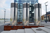 Silver cylinders — Stock Photo