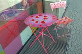 Berlin - shop window-stroll - seat set — Stock Photo
