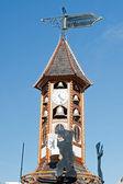 Berlin Alexanderplatz - bell tower — Stock Photo