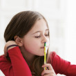 Little student thinking - Stockfoto