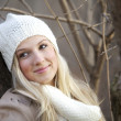 Royalty-Free Stock Photo: Happy young winter woman