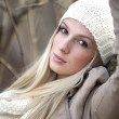 Beautiful winter young woman - Stock Photo