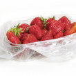 Packaged Strawberries - 图库照片