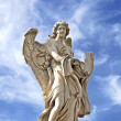 Angel with garment in Rome, Italy - Stock Photo
