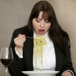 Hungry woman - Stock Photo