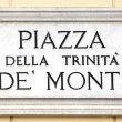 Piazza della Trinita de Monti - Stock Photo