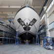 Luxury shipbuilding, ship repair - Foto Stock