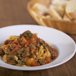 Pasta with Bolognese sauce - Stockfoto