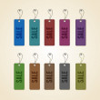 Set of colorful sale tags — Stock Vector