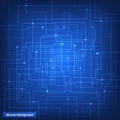 Fondo de tecnología de circuito virtual — Vector de stock