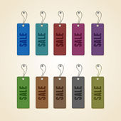 Set of colorful sale tags — ストックベクタ