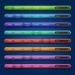 Set of 8 navigation bars for your website — Stock Vector #9712009