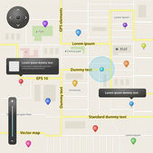 GPS navigation set of vector elements — Stock Vector