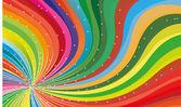 Colorful rainbow card — Stock Vector