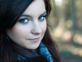 Beautiful girl with big eyes — Stock Photo