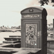 Stock Photo: Phone box