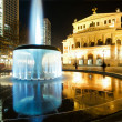 Old opera in Frankfurt at night - Stock Photo