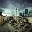 Dramatic cityscape of Frankfurt am Main downtown — Stock Photo