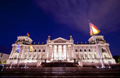 Reichstag in Berlin at night — Stock Photo