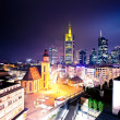 frankfurt downtown at night — Stock Photo #9232873