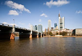 Frankfurt city downtown skyline — Stock Photo