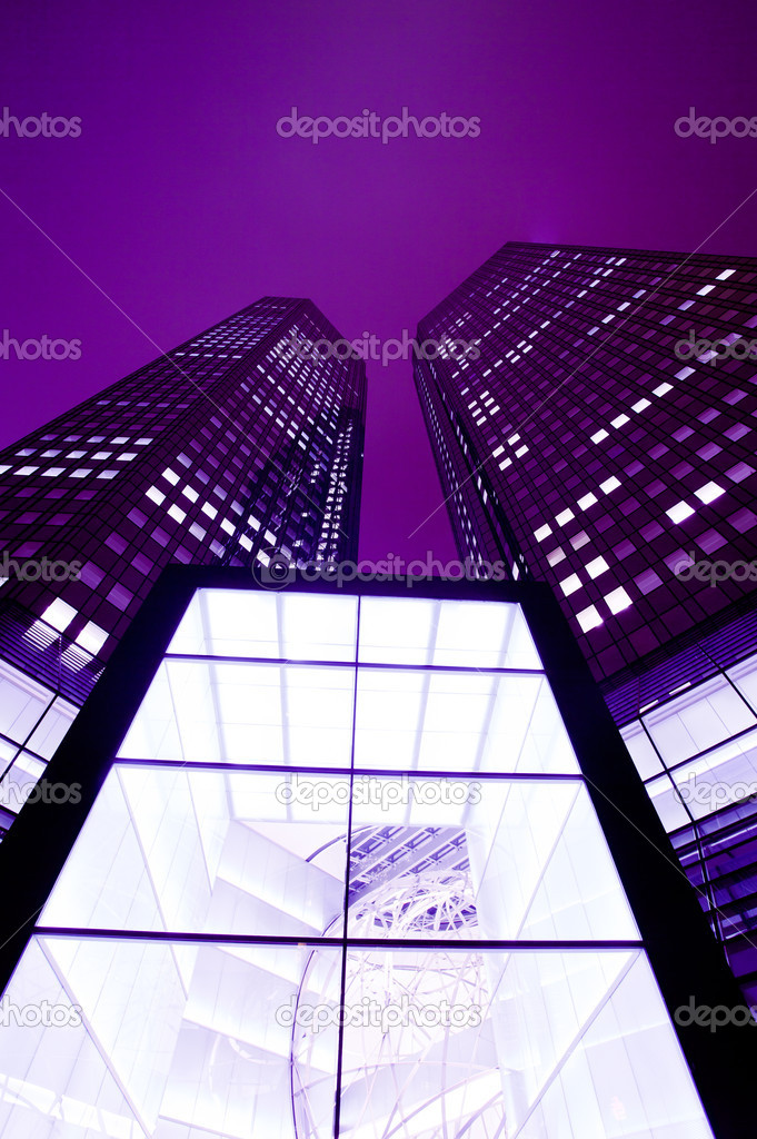 Modern European financial office district in Frankfurt   Stock Photo #9232899