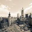 Frankfurt city in sepia — Stock Photo #9268238