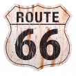 Route Sixty Six Grunge Sign Route Sixty Six Sign — Vettoriali Stock