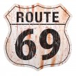 Route Sixty Nine Grunge Sign — Stock Vector #10592567