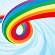 Abstract Rainbow Flow — Stock Vector