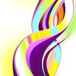 abstracte kleurrijke swirl — Stockvector