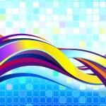 abstracte kleurrijke Golf — Stockvector
