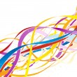 Royalty-Free Stock Vector Image: Abstract colorful ribbons.