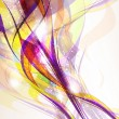 ストックベクタ: Abstract colorful background flow