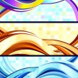 Stylish flowing abstract banners. — Stock Vector