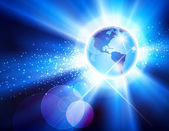 The Americas Globe Burst — Stock Vector