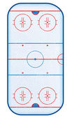 Top view of hockey rink. — Stock Vector