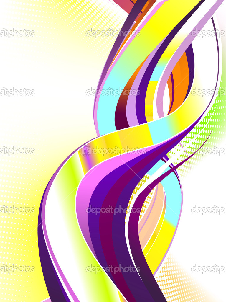 Abstract colorful swirl. No transparencies used. Gradient mesh used. — Stock Vector #9118678