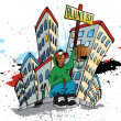 Ghetto Blunt Street - Stock Vector
