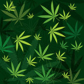 Marijuana Background — Stock Vector