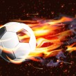 Stock Vector: Soccer Ball On Fire
