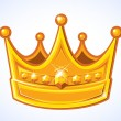 Golden Crown - Stock Vector