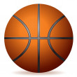 Realistic Basketball — Stock Vector