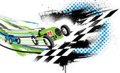 Race to the Finish Line — Stock Vector